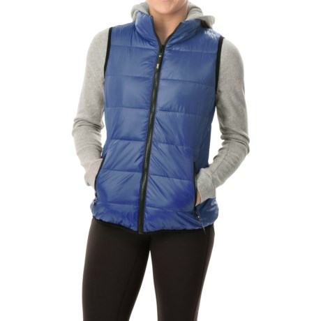 Marc New York Performance 2 Fer Puffer Vest with Knit Hoodie Insulated (For Women)
