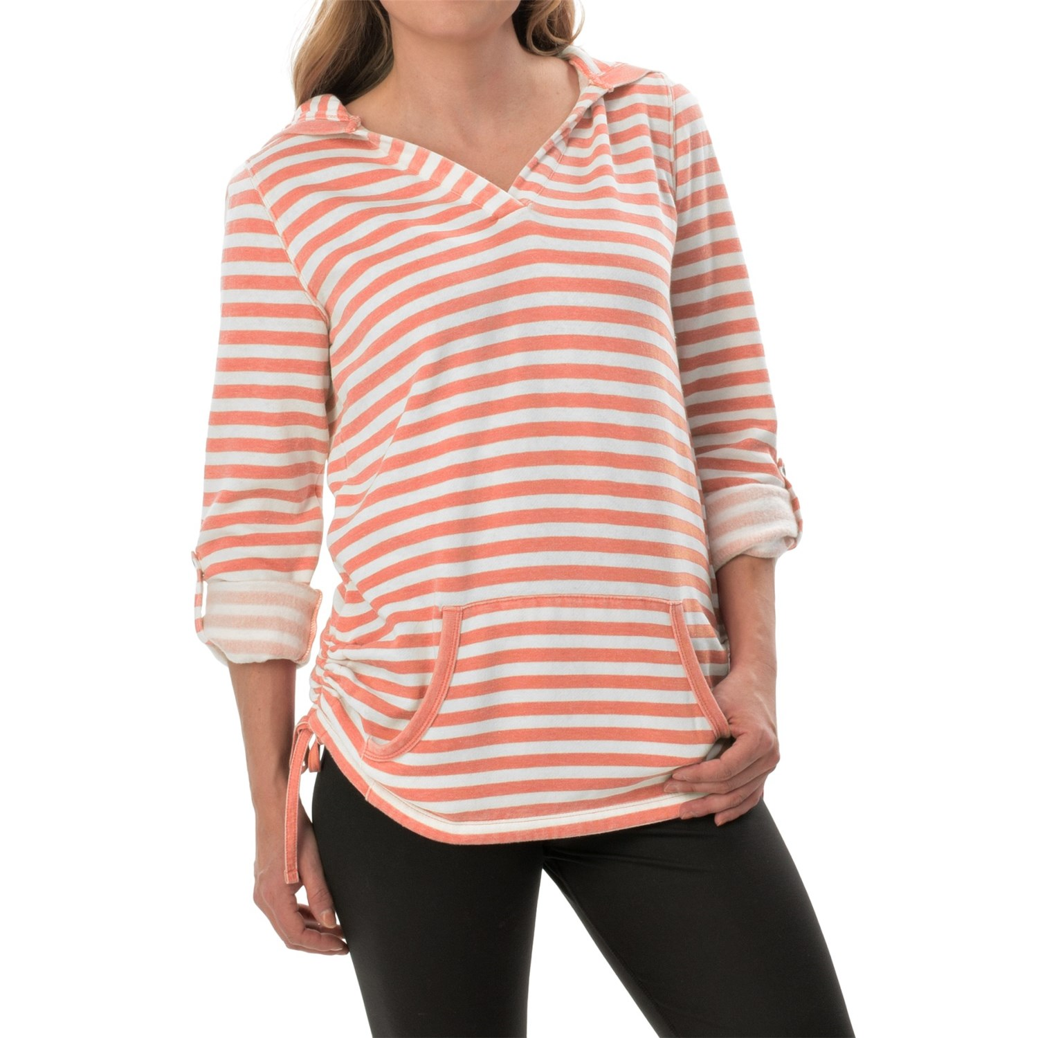 New York Performance: Marc New York Performance Fleece Striped Tunic Shirt (For
