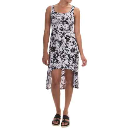 Marc New York Performance High-Low Tank Dress - Cotton-Modal Blend, Sleeveless (For Women) in Black Floral - Closeouts