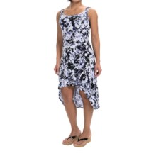 Marc New York Performance High-Low Tank Dress - Cotton-Modal Blend, Sleeveless (For Women) in Grape Floral - Closeouts
