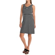 Marc New York Performance Hooded Striped Dress - Racerback, Sleeveless (For Women) in Black/White - Closeouts