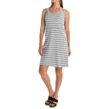 Marc New York Performance Hooded Striped Dress - Racerback, Sleeveless (For Women) in Light Grey Heather/White - Closeouts