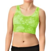 Marc New York Performance Tie-Dye Seamless Sports Bra - Medium Impact (For Women) in Sour Apple - Closeouts