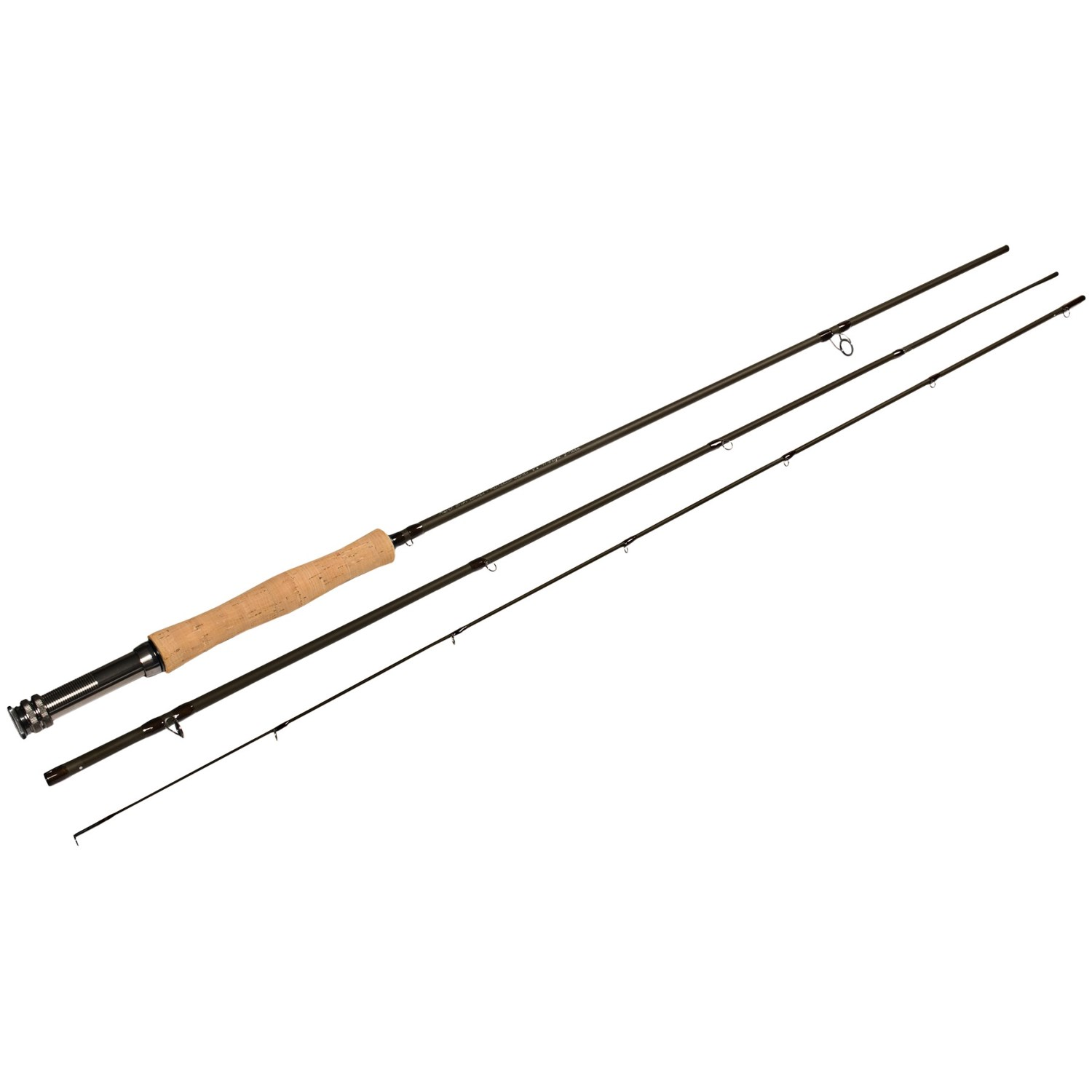March brown perfection fly fishing rod 9 39 6 3 piece for 3 piece fishing rod