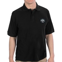 Margaritaville Solid Pique Polo Shirt - Short Sleeve (For Men) in Black - Closeouts