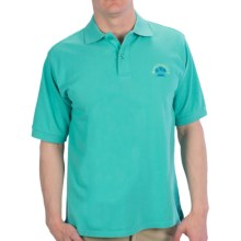 Margaritaville Solid Pique Polo Shirt - Short Sleeve (For Men) in Turquoise - Closeouts