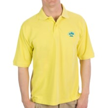 Margaritaville Solid Pique Polo Shirt - Short Sleeve (For Men) in Yellow - Closeouts