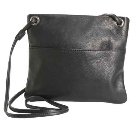 Margot Mini Square Leather Purse - Crossbody (For Women) in Black - Closeouts