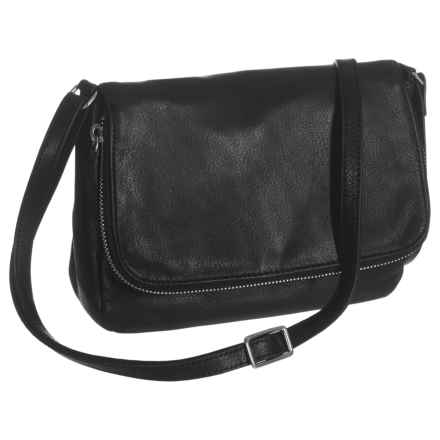Margot Preston Crossbody Bag - Leather (For Women) in Black - Closeouts