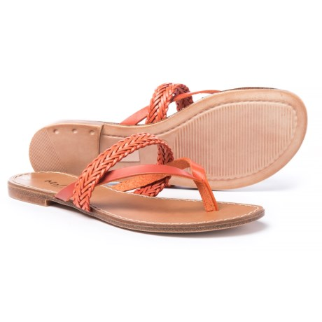 Mariella Made inItaly Flat Sandals (For Women) in Orange