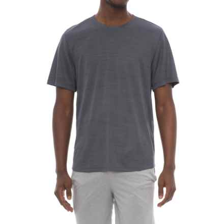 Marika Active T-Shirt - Short Sleeve (For Men) in Charcoal Space Dye - Closeouts