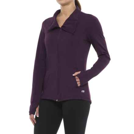 Marika Asymmetrical Full-Zip Jacket (For Women) in Deep Purple - Closeouts