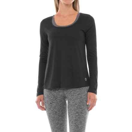 Marika Balance Collection Reflection Back-Cutout Shirt - Long Sleeve (For Women) in Black - Closeouts