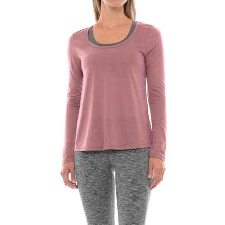 Marika Balance Collection Reflection Back-Cutout Shirt - Long Sleeve (For Women) in Zephyr - Closeouts