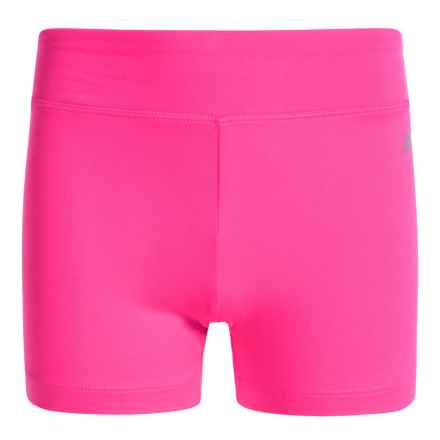 Marika Basic Biker Shorts (For Big Girls) in Neon Knockout Pink - Closeouts