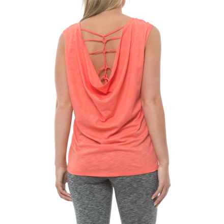 Marika Collection Cage Back Shirt - Sleeveless (For Women) in Coral - Closeouts