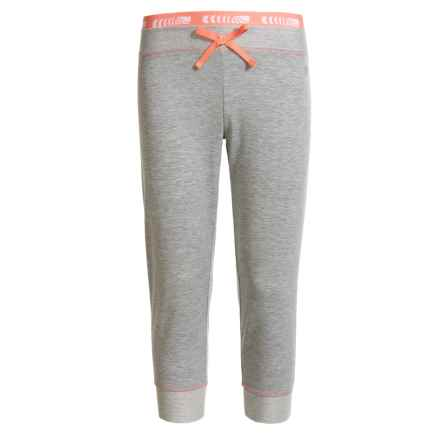 Marika French Terry Capris (For Big Girls) in Gray Heather/Coral Flower - Closeouts