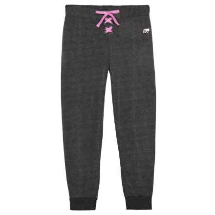 Marika French Terry Joggers (For Big Girls) in Black Heather - Closeouts