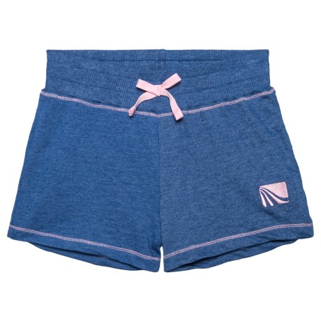 Marika French Terry Shorts (For Big Girls) in Navy Noir/Rose