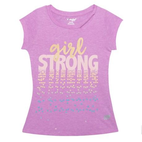 Marika Girl Strong Shirt - Short Sleeve (For Big Girls) in Lilac View