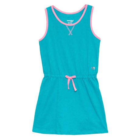 Marika Heather French Terry Dress - Sleeveless (For Big Girls) in Scuba Blue