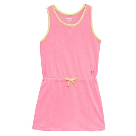 Marika Heather French Terry Dress - Sleeveless (For Little Girls) in Pink Volt