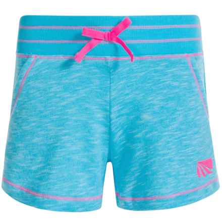 Marika Knit Shorts (For Big Girls) in Aqua Teal - Closeouts