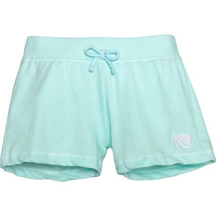 Activewear Bottoms Juniors Size Large Marika Tek Orange Red Blue White Design Athletic Shorts Elast