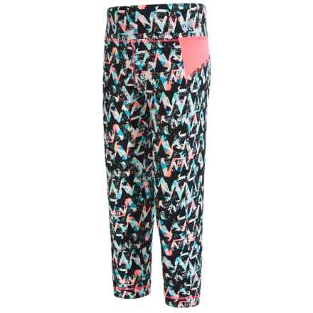 Marika Printed Athletic Capris (For Big Girls) in Melon Bloom - Closeouts