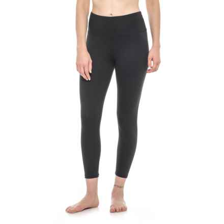 Marika Solid High-Waist Capri Leggings (For Women) in Black - Closeouts