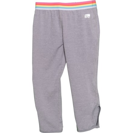 97a7bb0bc458c7 Solid Rainbow Waistband Capris (For Big Girls) in Gray Heather - Closeouts.  Show Brand Marika