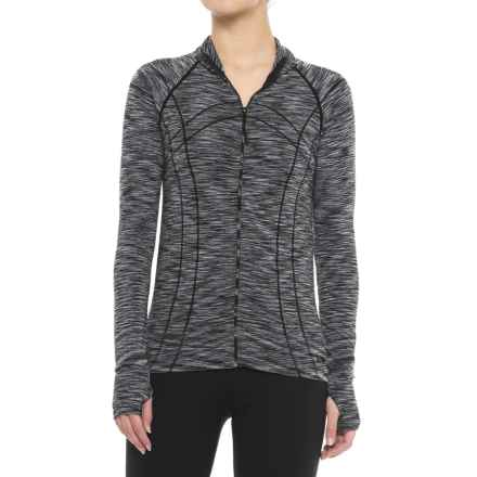 Marika Space-Dye Seamless Jacket (For Women) in Black - Closeouts