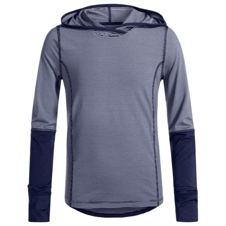 Marika Striped Hoodie (For Little and Big Girls) in Navy Stretch