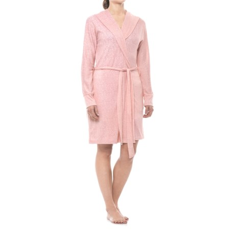 Marilyn Monroe Brushed Hacci Hooded Robe - Long Sleeve (For Women) in Rosemary Heather