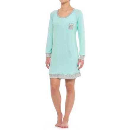 Marilyn Monroe brushed Hacci Sleep Shirt - Long Sleeve (For Women) in Aqua Heather - Closeouts