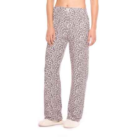 Marilyn Monroe Brushed Pajama Pants (For Women) in Grey Scroll - Closeouts