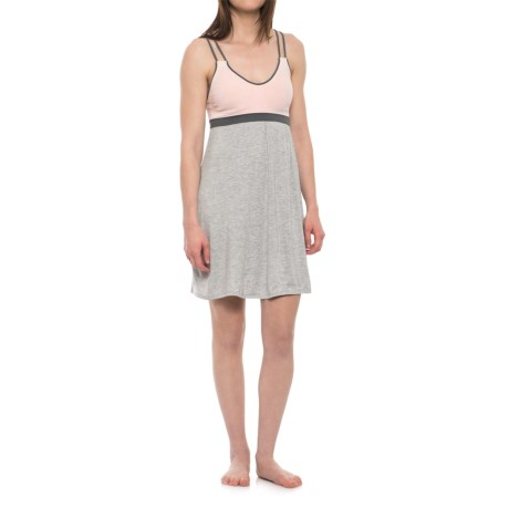 Marilyn Monroe Double-Strap Color-Block Chemise - Sleeveless (For Women) in Rosewash Heather/Light Heather