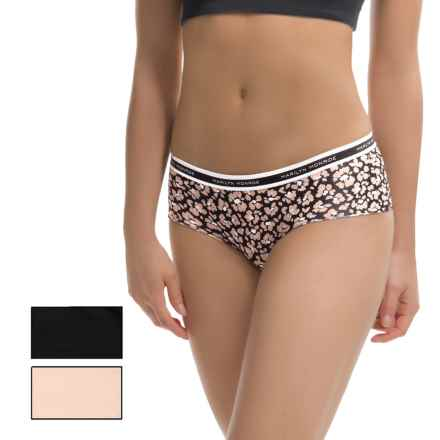 Marilyn Monroe Laser Small Band Panties - 3-Pack (For Women) in Tan Leopard Floral/Naked/Black - Closeouts