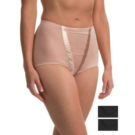 Marilyn Monroe Microfiber and Satin Shaping Panties - 3-Pack, Briefs (For Women) in Black/Tan/Black - Closeouts