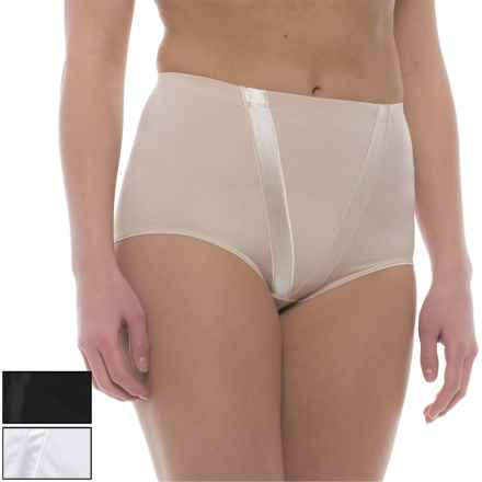 Marilyn Monroe Microfiber and Satin Shaping Panties - 3-Pack, Briefs (For Women) in Naked/Black - Closeouts