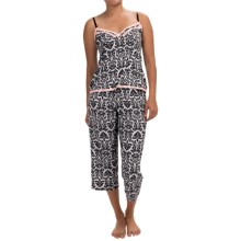 Marilyn Monroe Microfiber Pajamas - Sleeveless (For Women) in Black White Damisk - Closeouts