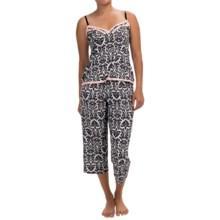 Marilyn Monroe Microfiber Pajamas - Sleeveless (For Women) in Black White Damisk - Closeouts