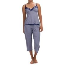 Marilyn Monroe Microfiber Pajamas - Sleeveless (For Women) in Blue Mini Geo - Closeouts