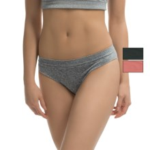 Marilyn Monroe Seamless Bikini Panties - 3-Pack (For Women) in Amber Spice/Dark Heather Grey/Black - Closeouts