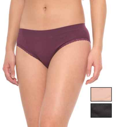 Marilyn Monroe Seamless Lacy Panties - 3-Pack, Briefs (For Women) in Deep Ruby/Naked/Black - Closeouts