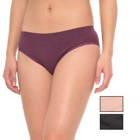 Marilyn Monroe Seamless Lacy Panties - 3-Pack, Briefs (For Women) in Deep Ruby/Naked/Black