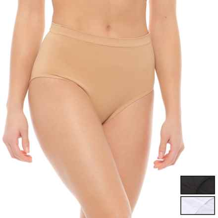 Marilyn Monroe Seamless Shaping Panties - Briefs, 3-Pack (For Women) in Tan/White/Black - Closeouts