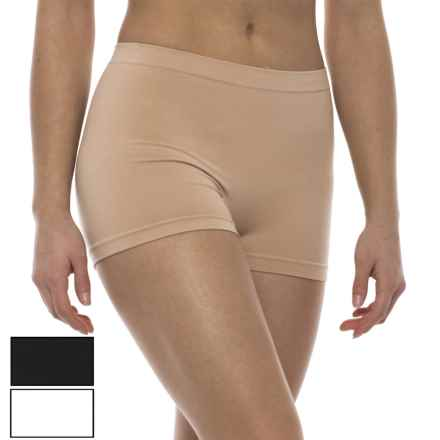 Marilyn Monroe Seamless Shaping Shorts - 2-Pack (For Women) in Naked/White/Black - Closeouts