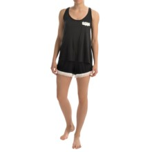 Marilyn Monroe Stretch Rayon Tank and Shorts Pajamas (For Women) in Black - Closeouts