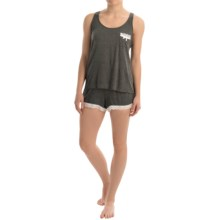 Marilyn Monroe Stretch Rayon Tank and Shorts Pajamas (For Women) in Charcoal Heather - Closeouts
